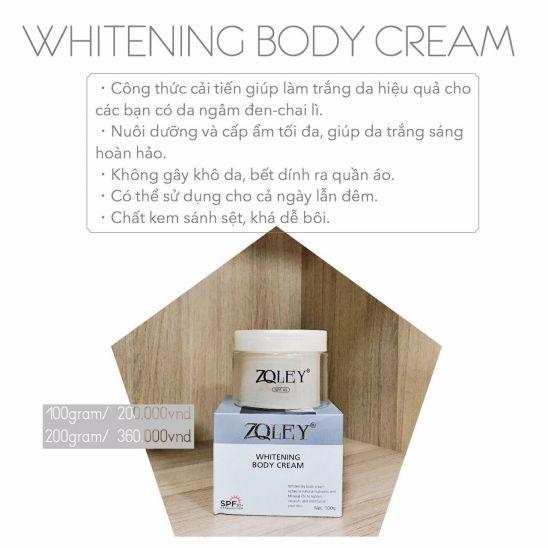 kem dưỡng trắng da toàn thân zoley whitening body 150g