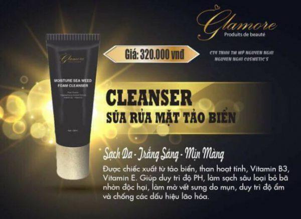 Mỹ phẩm Glamore Sữa rửa mặt tảo biển