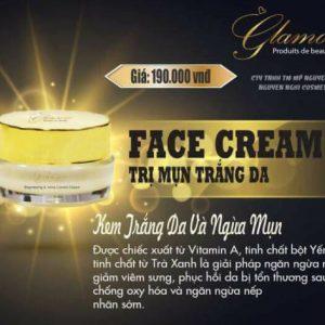mỹ phẩm glamore trị mụn trắng da
