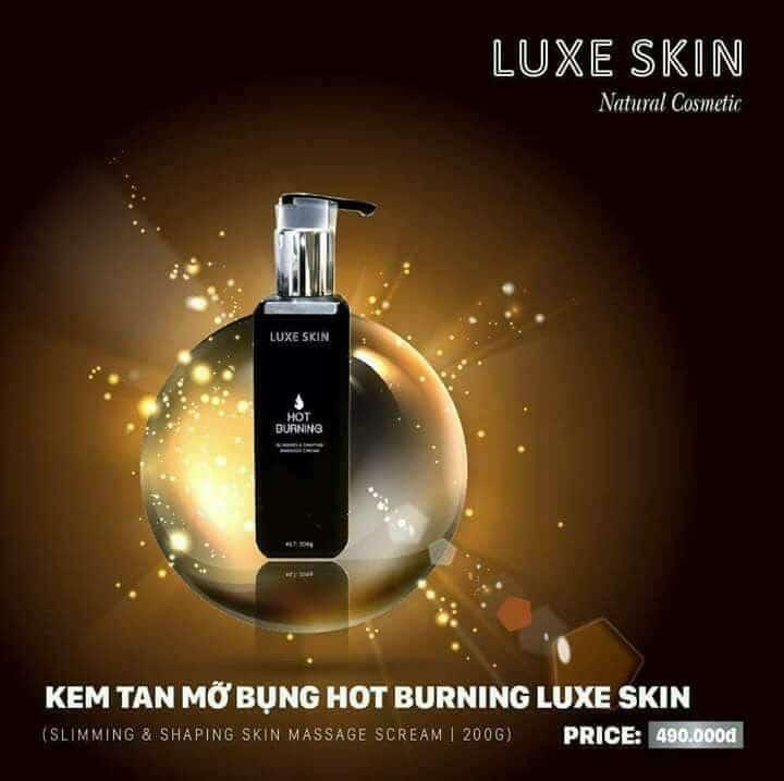 Kem Tan Mỡ Bụng Luxe Skin